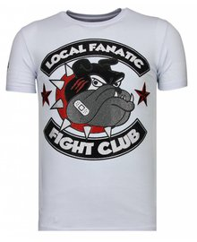 Local Fanatic T-shirt - Fight Club Spike - Wit