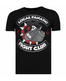 Local Fanatic T-shirt - Fight Club Spike - Zwart