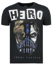 Local Fanatic T-shirt - Hero Mask - Blau