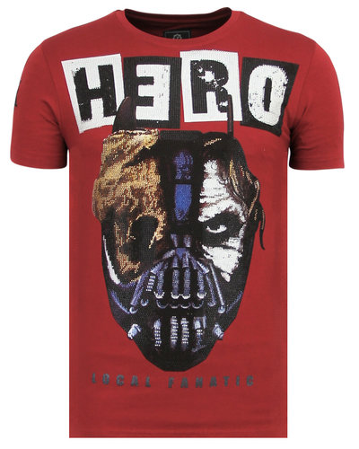 Local Fanatic T-shirt - Hero Mask - Bordeaux