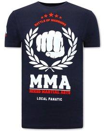 Local Fanatic T-shirt - MMA Fighter - Blue