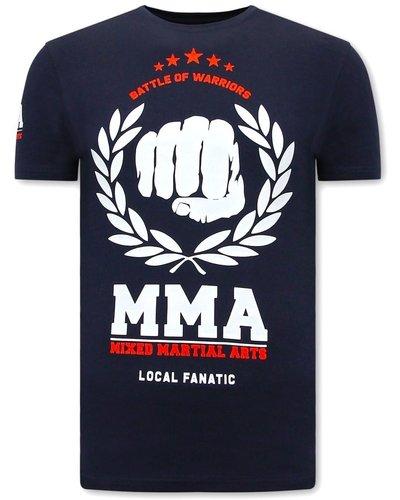 Local Fanatic T-shirt - MMA Fighter - Blauw