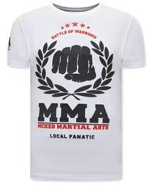 Local Fanatic T-shirt - MMA Fighter - White