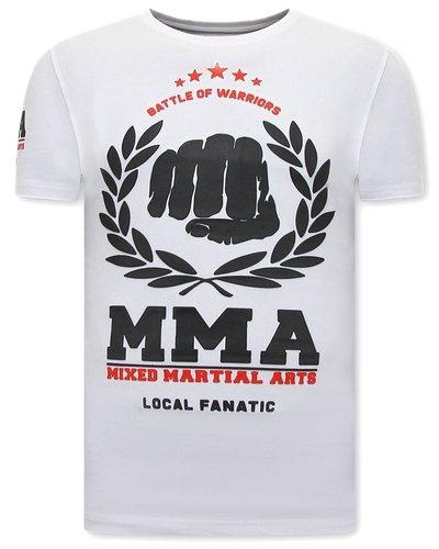 Local Fanatic Camiseta - MMA Fighter - Blanco