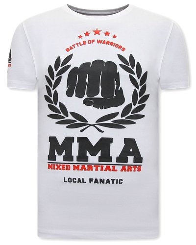 Local Fanatic T-shirt - MMA Fighter - Wit