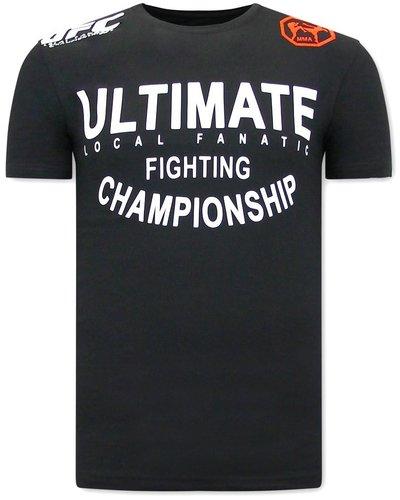 Local Fanatic T-shirt - UFC Ultimate - Schwarz