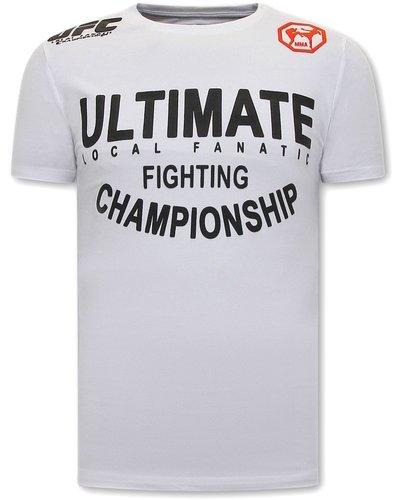 Local Fanatic T-shirt - UFC Ultimate Men - White