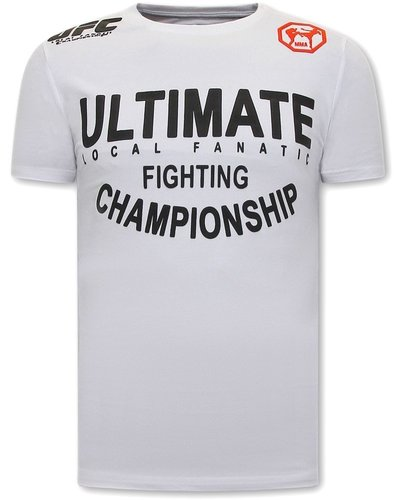 Local Fanatic UFC Ultimate Heren Tshirt  - Wit