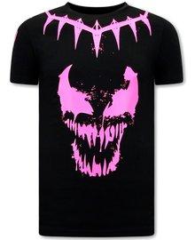 Local Fanatic T shirts - Venom Face Neon - Black