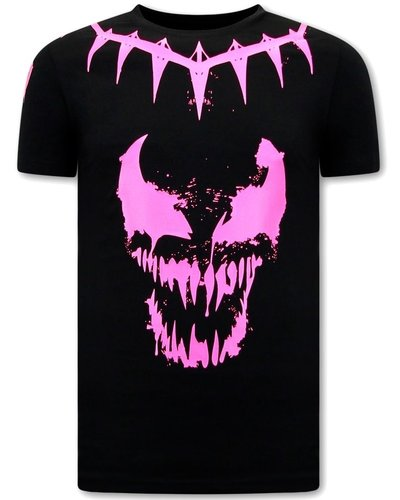 Local Fanatic T-Shirts - Venom Face Neon - Schwarz