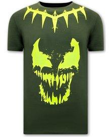 Local Fanatic T-Shirts - Venom Face Neon - Grün