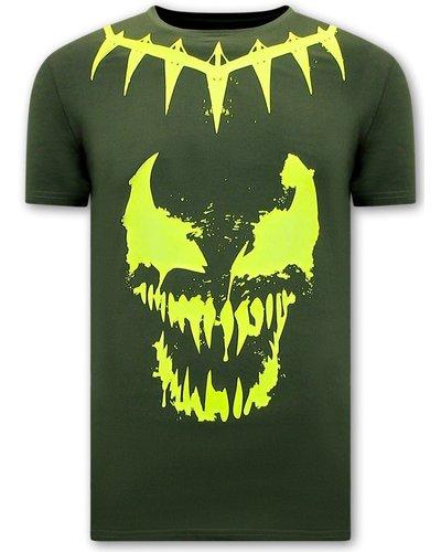 Local Fanatic T shirts - Venom Face Neon - Green