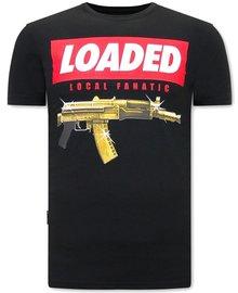 Local Fanatic T-shirt - Loaded Gun  - Zwart