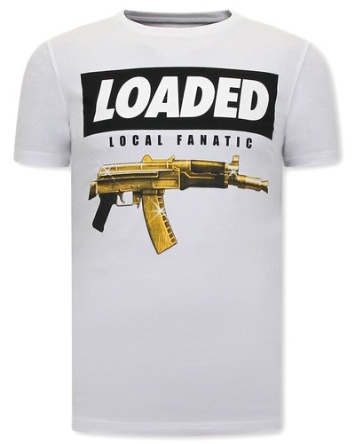 Local Fanatic T-shirt - Loaded Gun - White