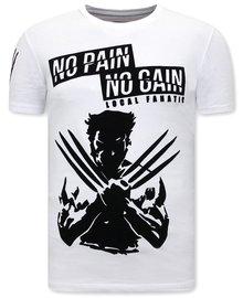 Local Fanatic T-shirt - Wolverine X Man - Weiß