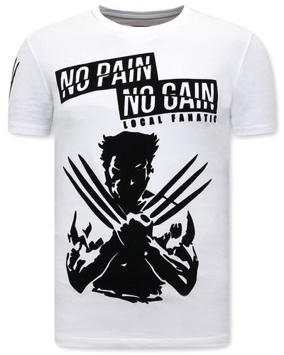 Local Fanatic T-shirt - Wolverine X Man - White