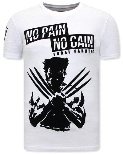 Local Fanatic T-shirt - Wolverine  X Man - Wit