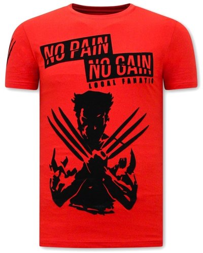 Local Fanatic T-shirt - Wolverine X Man - Red