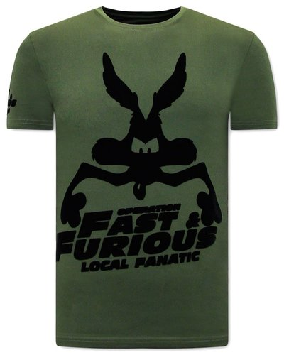Local Fanatic T-shirt - Fast and Furious - Groen