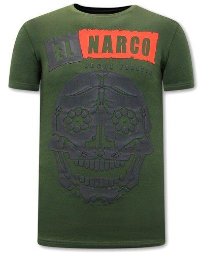 Local Fanatic T-shirt - El Narco  - Groen