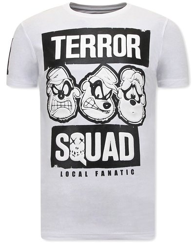 Local Fanatic  T shirts - Beagle Boys Squad  - Wit