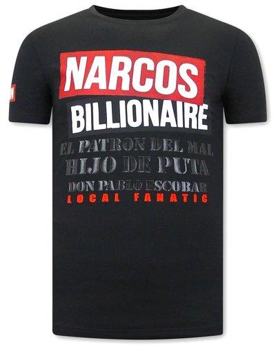Local Fanatic T-shirt - Narcos Billionaire - Zwart