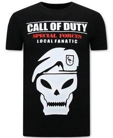 Local Fanatic T-shirt - Call of Duty - Zwart