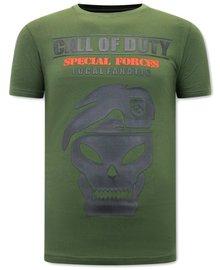 Local Fanatic Camiseta - Call of Duty - Verde