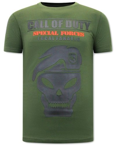 Local Fanatic T-shirt - Call of Duty - Groen