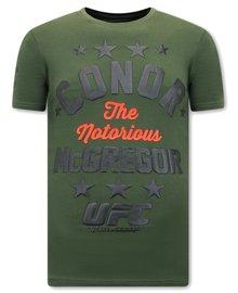 Local Fanatic T-shirt - The Notorious Mcgregor UFC - Groen