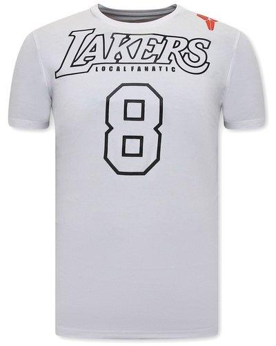 Local Fanatic T-shirt - Lakers - White