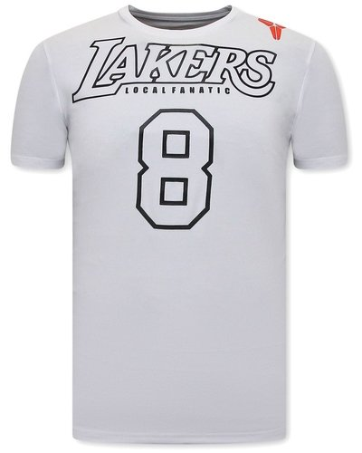 Local Fanatic T-shirt - Lakers - Wit