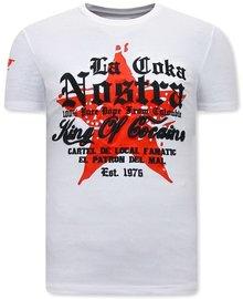 Local Fanatic T-shirt - La Coka Nostra - Wit