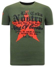 Local Fanatic T-shirt - La Coka Nostra - Grün