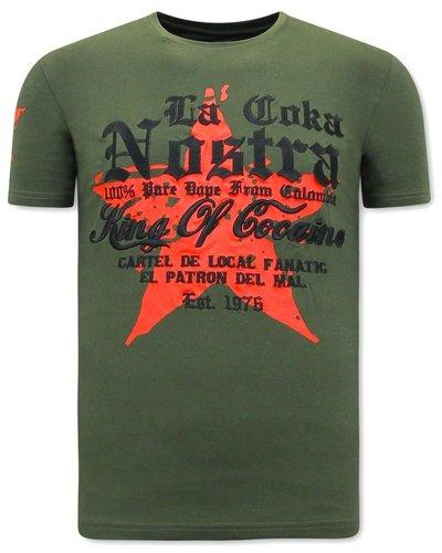Local Fanatic T-shirt - La Coka Nostra - Groen