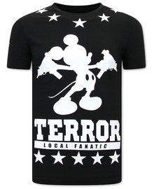 Local Fanatic T-shirt - Terror Mouse - Schwarz