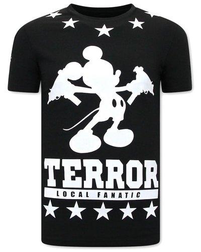Local Fanatic T-shirt - Terror Mouse - Zwart