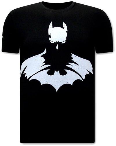 Local Fanatic T-shirt - Batman Print - Zwart