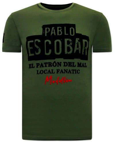 Local Fanatic T-shirt - El  Patron - Groen
