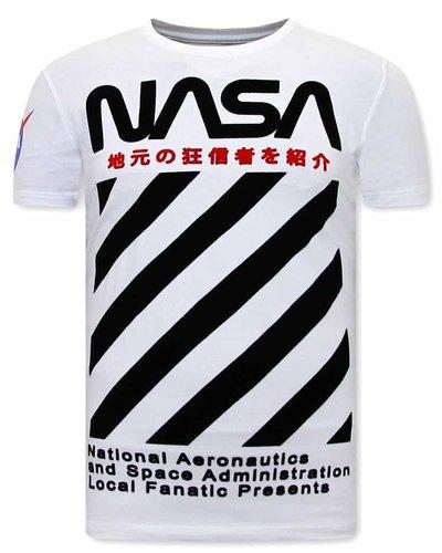 Local Fanatic T-shirt - NASA - Wit