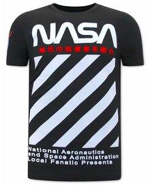 Local Fanatic T-shirt - NASA - Zwart