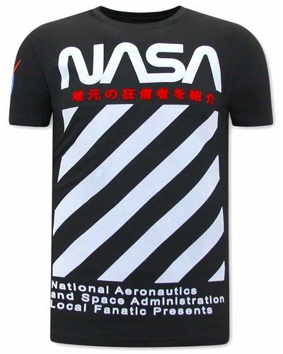 Local Fanatic T-shirt - NASA - Black