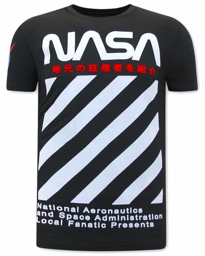 Local Fanatic T-shirt - NASA - Schwarz