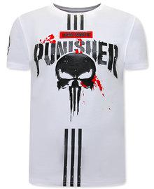 Local Fanatic T-shirt - Punisher  - Wit