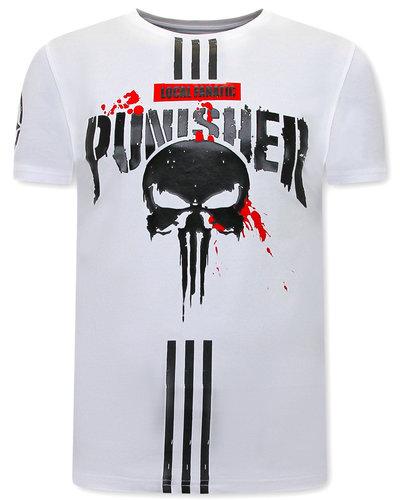 Local Fanatic Punisher T-shirt Heren - Wit
