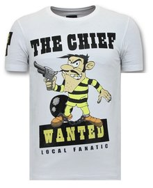Local Fanatic T-shirt - Dalton The Chief - Wit