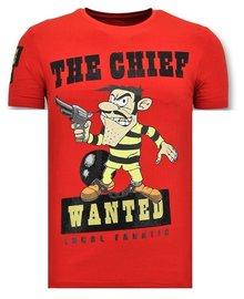 Local Fanatic T-shirt  - Dalton The Chief - Rood