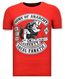 Local Fanatic T-shirt - Sons Of Anarchy - Red