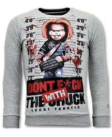 Local Fanatic Sweatshirt Men - Dont Fuck With Chuck - Gray