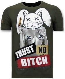 Local Fanatic T-shirt - Trust No Bitch - Khaki